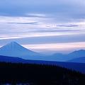霧が峰 冬景 夜明け前