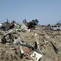 写真: 津波の被害