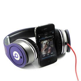 Monster Beats Justin Bieber Headphones Purple 5