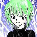 Photos: 緑髪黒服