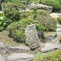 写真: 与次郎の散歩風景 魔除け石