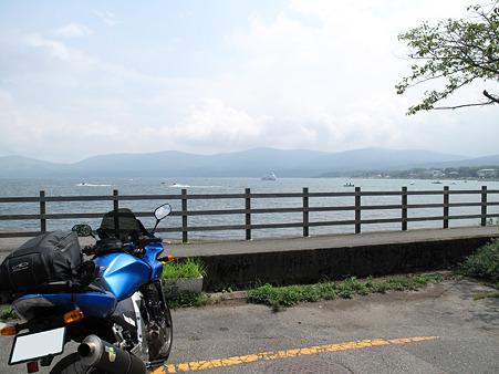 山中湖 富士山は