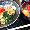 Photos: 朝日の冷やし中華とミニ牛丼