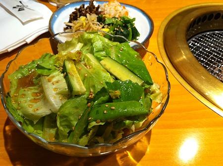 たっぷり野菜と焼き肉!1