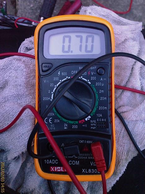 約3000rpm時 電圧 純正