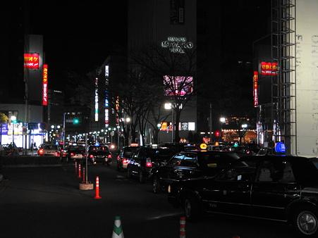 JR博多駅筑紫口の夜景
