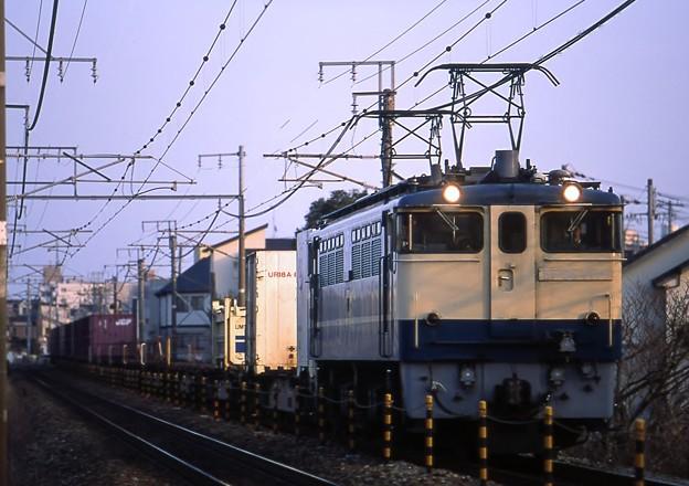 EF651119(新鶴見)原色青プレ 75レ 土山~東加古川