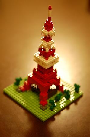 完成!ナノブロック(東京タワー)
