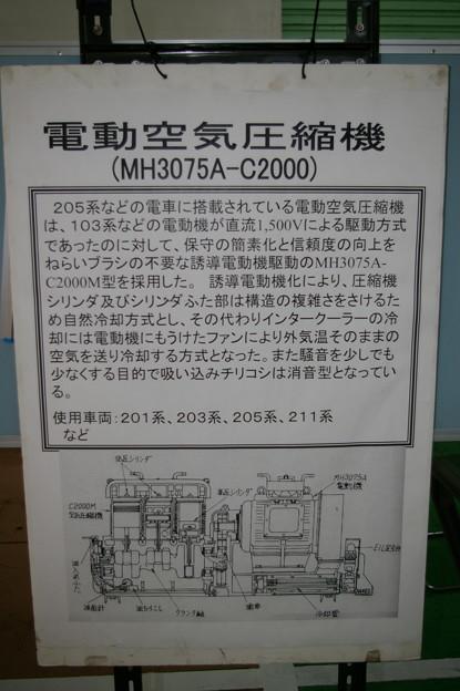 電動空気圧縮機 MH3075A-C2000 解説 東京総合車両センター