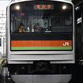 写真: 川越・八高線205系3000番台 ハエ85編成 南古谷表示