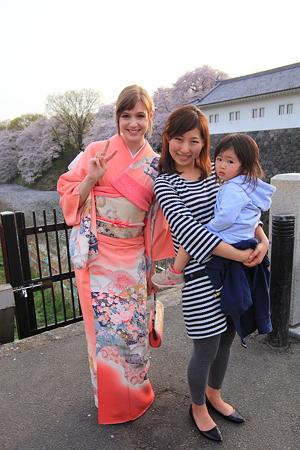 和服美人と従姉妹