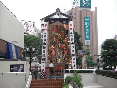 博多祇園山笠 2009 飾り山 渡辺通一丁目 勲黒田武士