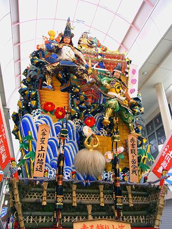 博多祇園山笠 2011 走る飾り山 上川端通 秀吉賤ケ岳合戦(ひでよししずがだけのかっせん)1