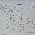 鳥獣人物戯画Ⅲ(陶板名画の庭)