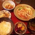 Photos: 今日の晩御飯は、福島県いわき市平の「玉乃湯」にて生姜焼き定食75...