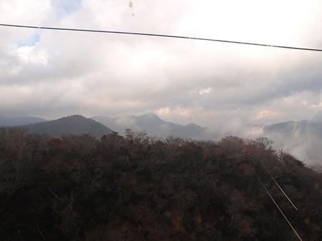 箱根ロープウェイの景色(大涌谷駅→早雲山駅)1
