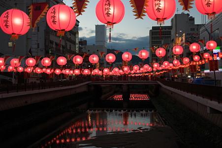 2012.01.26 長崎 新地中華街 ランタンフェスティバル 橋