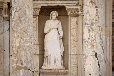 2011.01.23 トルコ 古代都市エフェス ケルスス図書館-2
