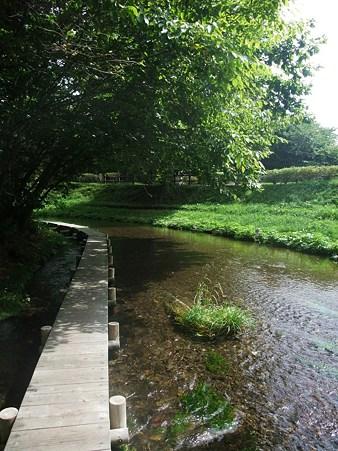 支笏へ向かう途中の川