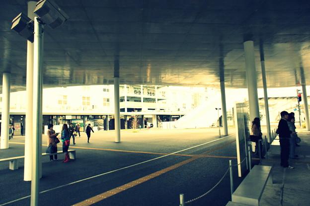 熊本駅の路面電車乗り場