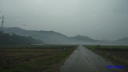 雨だった…