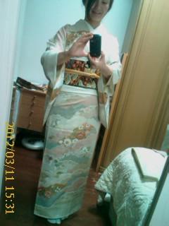母が着物の着付けを習ってい...
