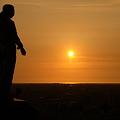 夕陽と日本海を望む(希望・友愛)大乗寺丘陵公園